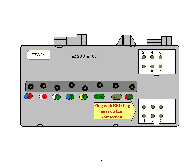 and also, courtesy of james, is a diagram of how to plug in the two  identical connectors  there are no markings on the switchover valve, so  this picture